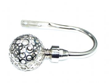 Stainless Steel Circle Ball Curtain Tiebacks / Holdbacks.